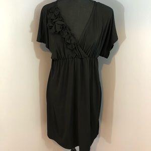Cute, Causal BCX Black Plunge Neckline Sz Medium